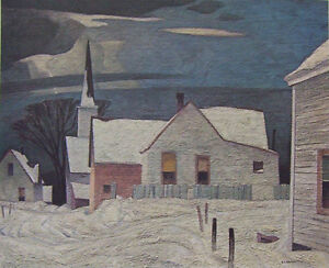 "A.J. Casson ""Village in Winter"" Lithograph - Appraised at $1250"