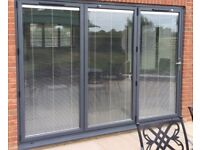 New 3 Door Bi Folding Door With Electric Blinds