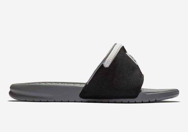 6592a916 Nike Benassi JDI Fanny Pack Slide Black White Cool Grey AO1037-001 Men  women sz