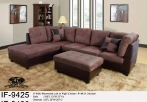 Sectional with reversible left or right chaise
