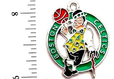 (2) Boston Celtics Silver Metal Charm Bracelet Jewelry NBA BRAND NEW Boston Celtics Jewelry