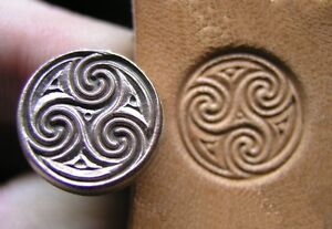 012-01-Celtic-Spirals-Leather-stamp-brass-Tool
