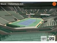 2x Men's Final Wimbledon Debenture tickets - Block 205