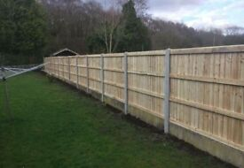 💧New Flat Top Feather Edge Fence Panels ^ Tanalised
