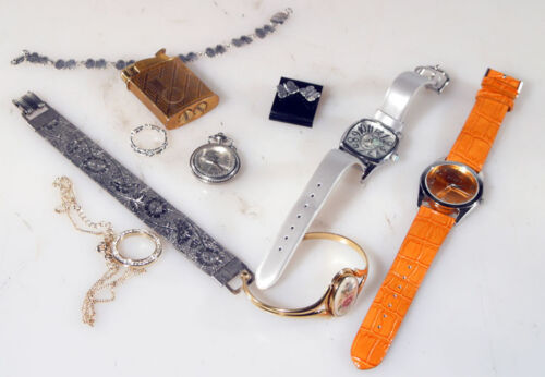 MISC. JEWELRY (WATCHES, BRACELETS, NECKLACES, LIGHTER)