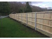 🌩New Pressure Treated Feather Edge Flat Top Fence Panels• Excellent Quality