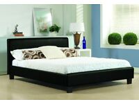 King size bed and memory foam mattress