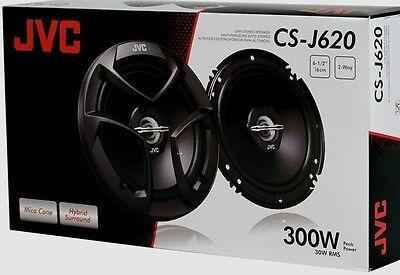 "JVC CS-J620 6.5"" CS Series 2-Way Coaxial Car Audio Speakers 300W CSJ620"
