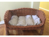 Small wicker dog/ cat basket