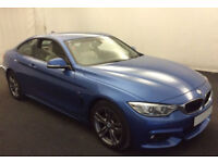 Blue BMW 420d M Sport Coupe 190bhp Leather 2015 FROM £98 PER WEEK!