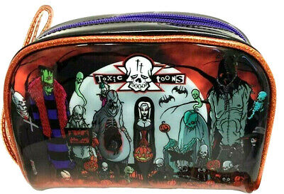 Vampires Makeup (Toxic Toons Makeup Bag Cosmetic Womens Glitter Horror Gothic Goth Witch)