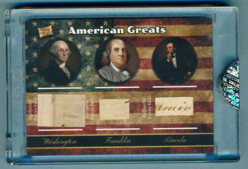 THE BAR George WASHINGTON Benjamin FRANKLIN Abraham LINCOLN Hand Written Relics