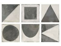 Mandarin Stone Monochrome decor porcelain tiles / 40 tiles in total