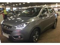HYUNDAI IX35 STEEL GREY 2.0 CRDI SE 4WD STATIONWAGON DIESEL FROM £57 PER WEEK!