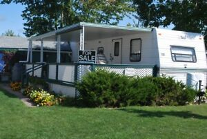 30ft Terry trailer with hard awning for sale!