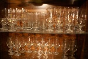 46 glasses with olympic design