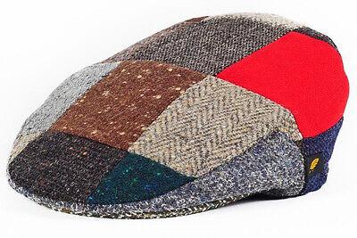 Irish Tweed Patch Cap - Donegal Tweed - Patchwork Cap - Driving Hat  Irish Patch Cap
