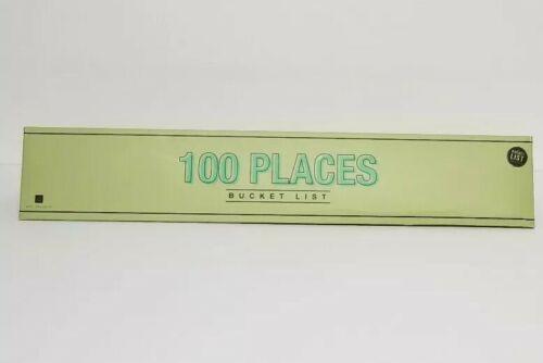 World Traveler 100 Places Bucket List Poster Scratch Off NIB