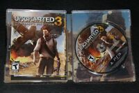 Uncharted 3 + Limited Edition Steelbook Playstation 3 PS3