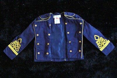 Jacke Jacket Kinder Baby Michael Jackson Zirkus Militär Military gold blau 92