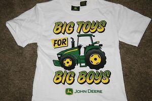 Nwt John Deere Boys Tee T Shirt 4 5 6 7 White Big Toys Big
