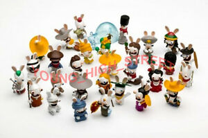 RAYMAN RAVING RABBIDS RABBIT FIGURES LOT OF 30 PCS NEW