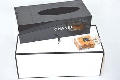 CHANEL VIP Gift Black Tissue Holder Acrylic Box NEW