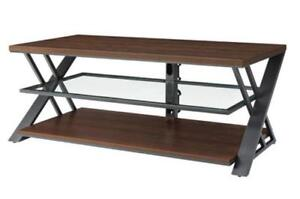 "Whalen BBCAVC54-SMB Logan 65"" Bench / Console TV Stand - Warm Brown Cherry (New Other)"