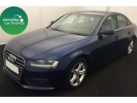 £271.97 PER MONTH BLUE 2013 AUDI A4 2.0 SE TECHNIK 4 DOOR DIESEL MANUAL WITH NAV