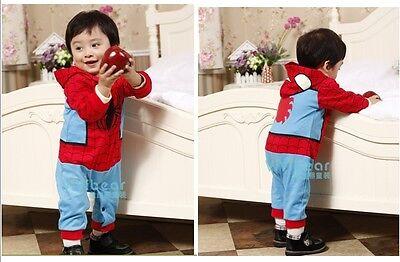 Baby Spider Man Kostüme (Baby Kleinkind Kostüm-party Spiderman Kostüm Spielanzug Größe 3-24months)