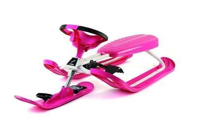 Stiga Snow Racer Color Pro Pink Lenkschlitten Bob Ski Schlitten Rodel Sled