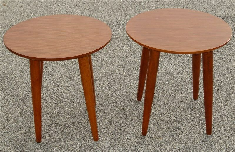 Mid-Century Style Side Cocktail TABLES * Screw in Legs