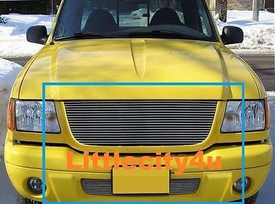 Edge Billet - For 01 02 03 Ford Ranger Edge Billet Grille Grill COMBO 1pc upper + 1pc bumper