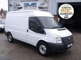 2012 61 FORD TRANSIT 330 125BHP MWB MED/ROOF 6 SPEED WITH 91,000 MILES CHOICE OF