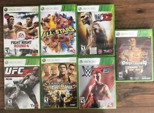 Xbox 360 Games *Lot of 7 Games* Including WWE Legends Of Wrestle