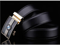 BMW black & brown Men's luxury belt 120 cm New