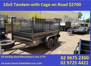 10x5 Tandem Box Trailer High Side with Cage 600mm $2700 on specia Smithfield Parramatta Area Preview