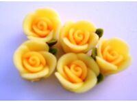 20 Heart Shape /& Strawberry Cake Resin Miniature//Craft//Doll//House//Cute//Clay B154