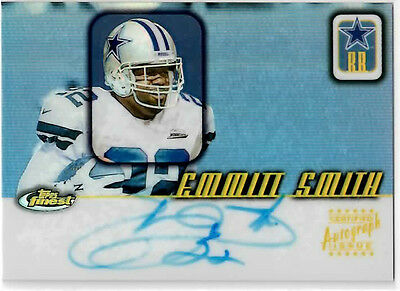 Emmitt Smith 2001 Topps Finest Certified Autograph Issue Signature FR-ES - $149.22