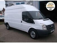 2009 09 FORD TRANSIT MWB HIGH ROOF 115BHP T350 1 OWNER FROM NEW DIESEL