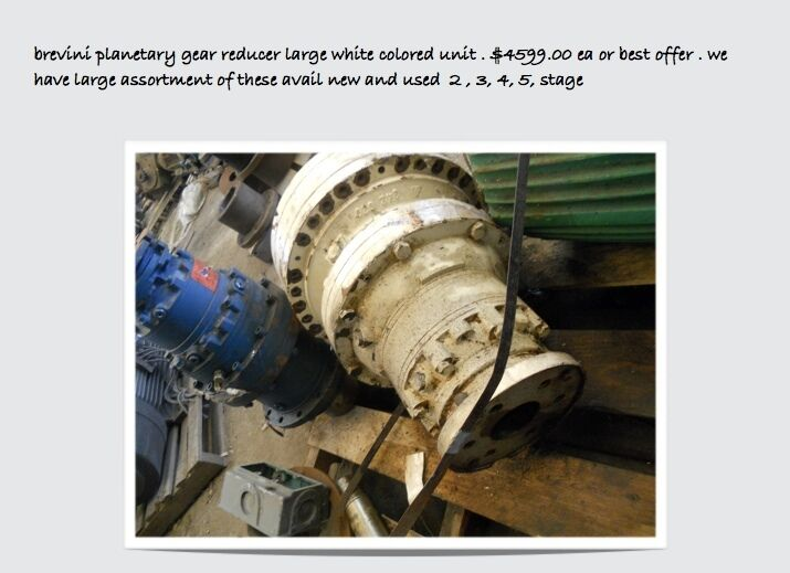 Brevini Planetary Gear Reducer, S/n 989 And V15637