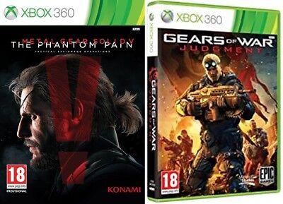 Metal Gear Solid V Phantom Pain & gears of war judgment Xbox...