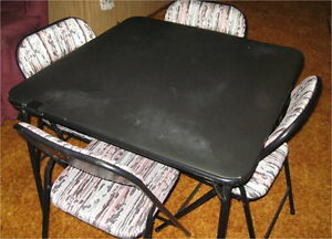 5PIECE TABLE AND CHAIR SET