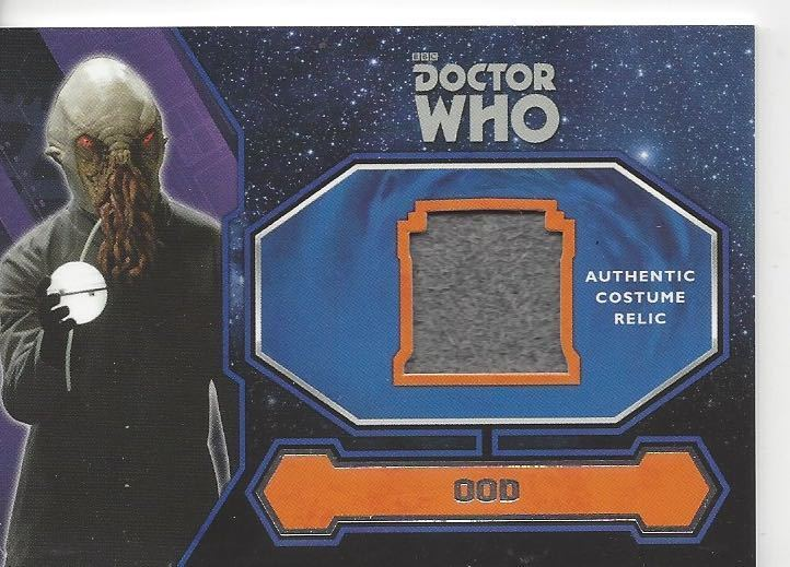 2015 BBC Topps Doctor Who OOD Authentic Costume Card  Free Shipping