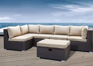 6-Piece Outdoor Sectional Sofa/Divan! Brune, L'entrepot Direct!