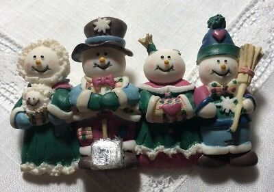 Vintage Pin Brooch House Of Lloyd Snowman Family 3