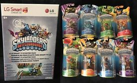 NEW Skylanders Battlegrounds LG Smart TV Starter Pack with Portal & 11 figures +