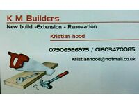 K m builders -Extension-new build and much more phone for free quote