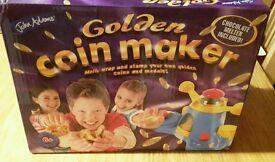Golden chocolate coin maker