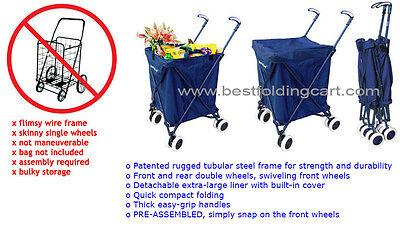 Versacart Transit Folding Cart Original Patented Shopping And Utility Cart